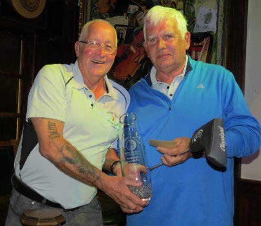 President John Bryan with Winner Terry Fitzgerald.