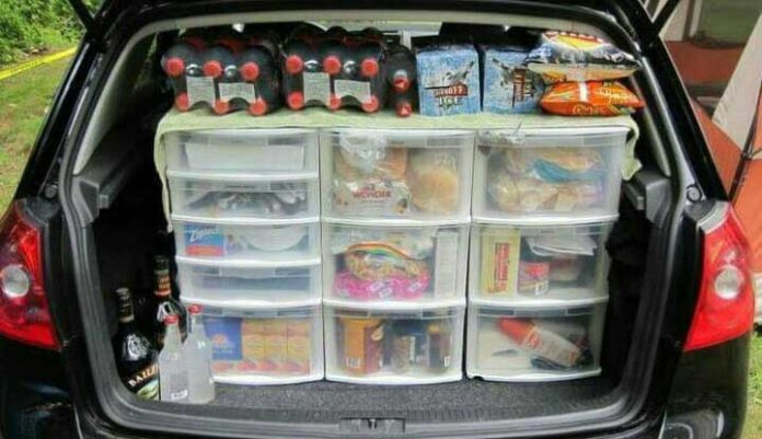A third of motorists use cars as a mobile pantry