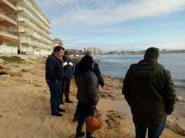 Councillors and municipal staff inspecting the locations