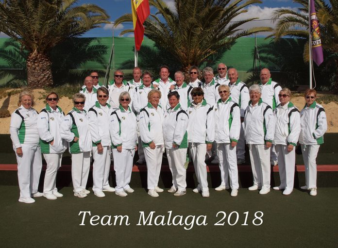 The squad from Malaga