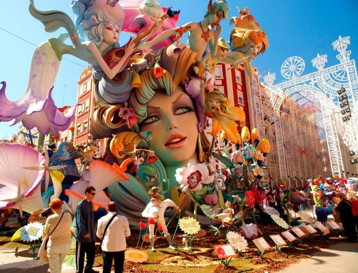 The Fallas in Valencia held in mid March. Photo: Brits In Spain