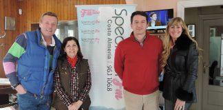 Mojácar's Mayor, Rosmari Cano and Tourism Councillor Emmanuel Agüero, talk on Spectrum Radio