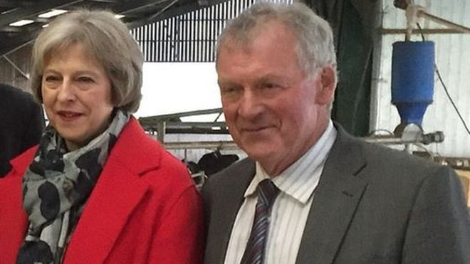 Welsh Tory MP Glyn Davies with Theresa May