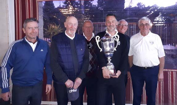 Captain Steve Lugger With A Selection Of The Winning Team