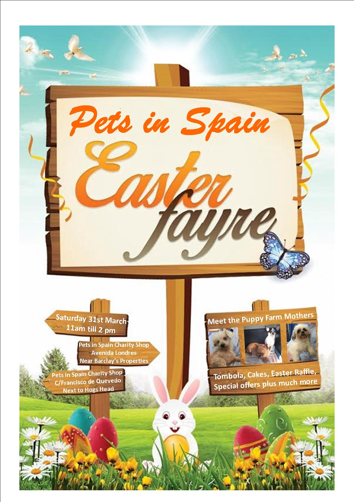 Meet their rescue puppies at Pets in Spain Easter Fayre