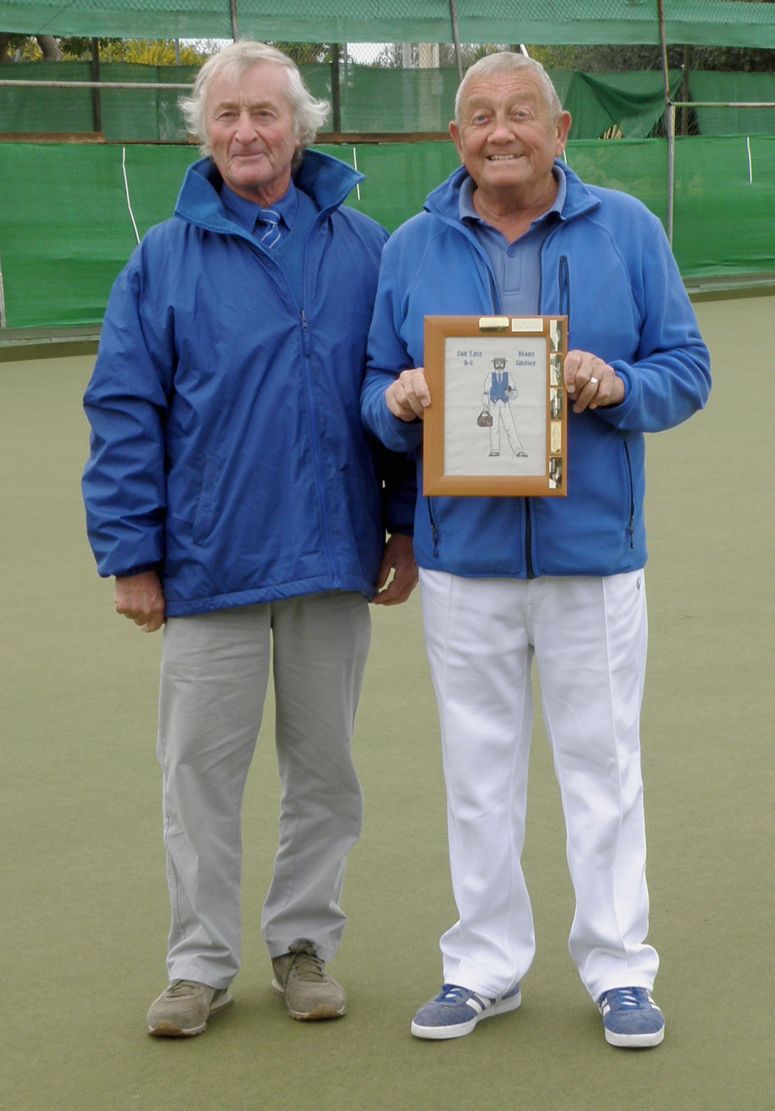 Mal Hughes with club President Vic Slater