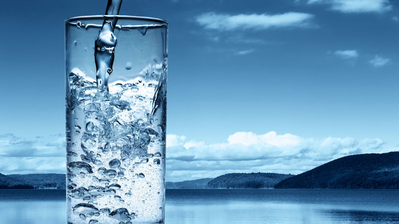 Drink at least 1.5 to 2 liters of water per day
