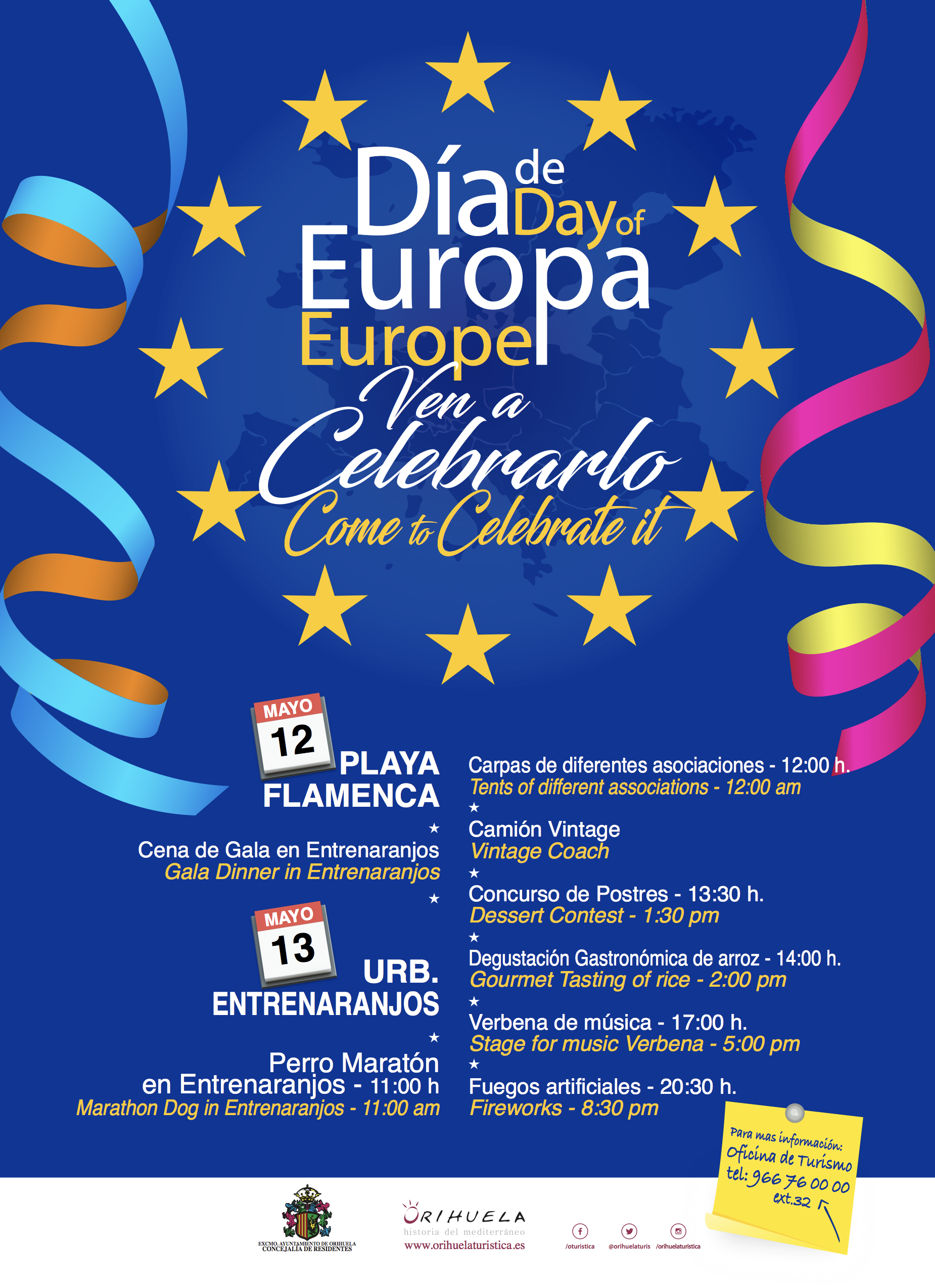 Dia de Europa to be celebrated this weekend at Flamenca Beach and Entre Naranjos