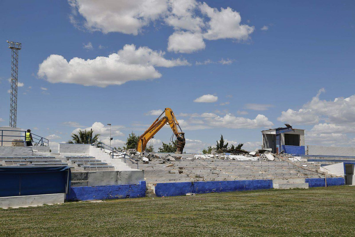 Out with the old as Vicente Garcia Grandstand demolished