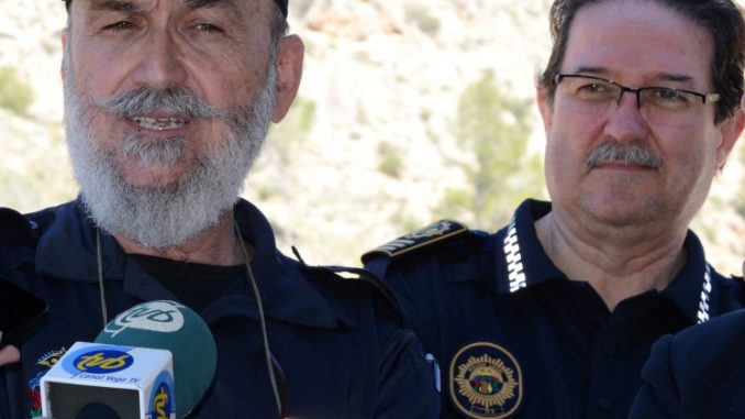 José María Pomares, the Chief of Police, on the right