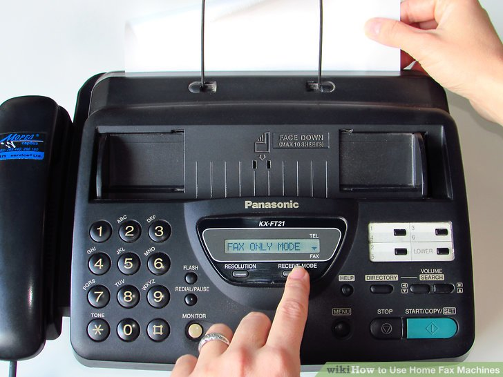 fax machine the leader newspaper