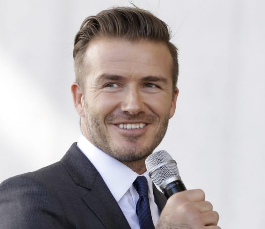David Beckham's launch of the new MLS soccer team
