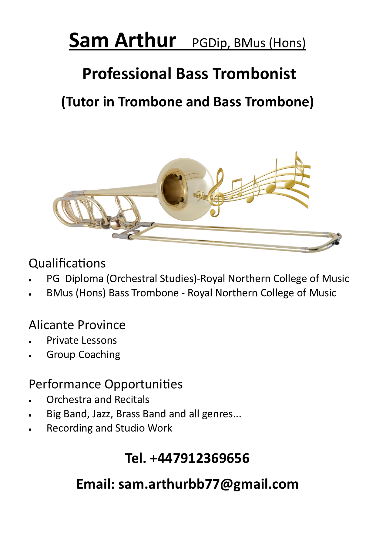 RBL Band welcomes International trombonist