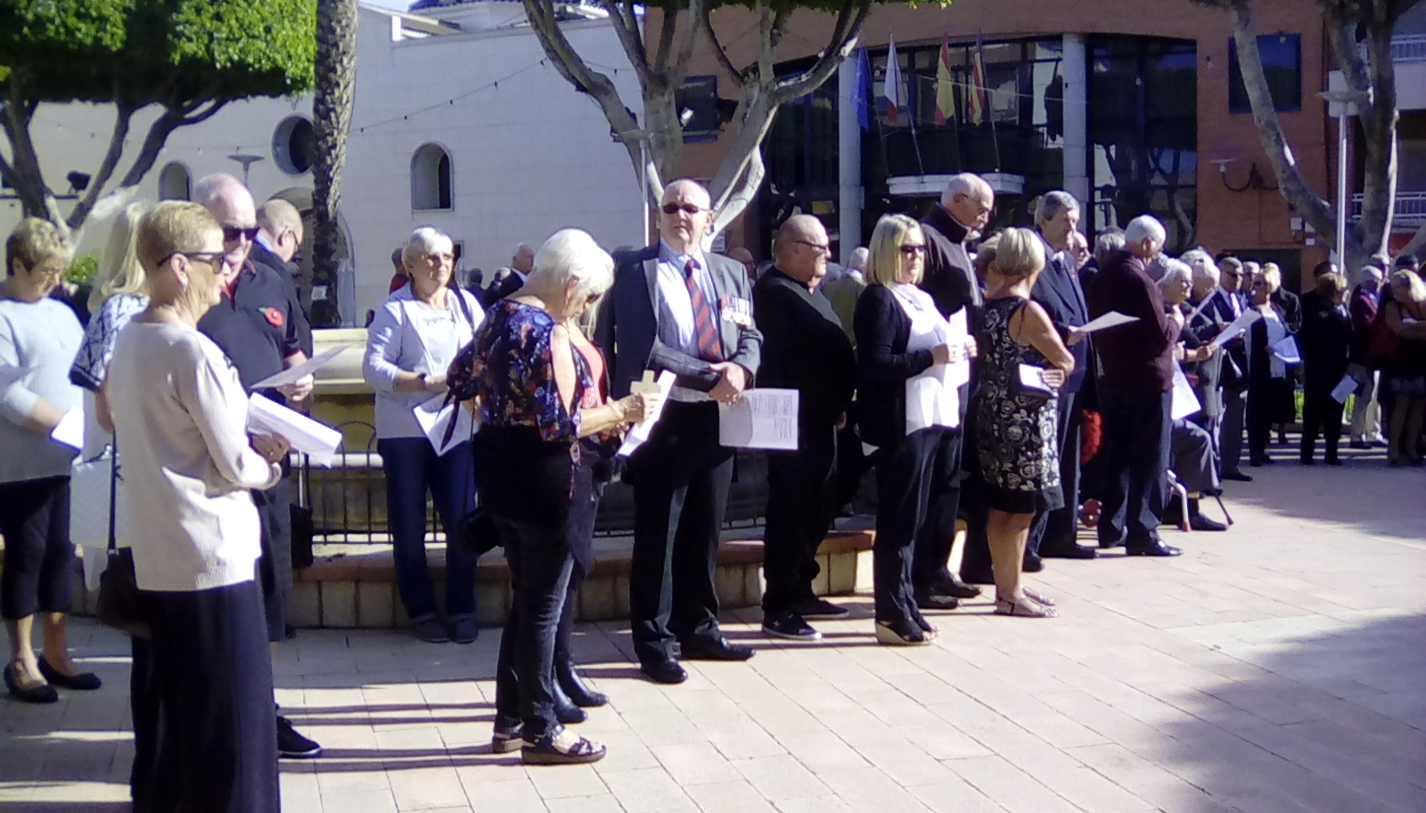 Gran Alacant & La Marina Branch of the RBL mark Armistice Day and Remembrance Sunday