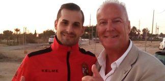 Roberto Paloma with reporter Andrew Atkinson.