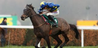 Dynamite Dollars confirmed his Cheltenham Festival credentials at Doncaster
