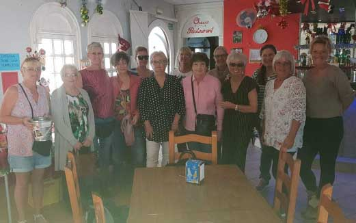 All the volunteers at Cheers Bar Restaurant