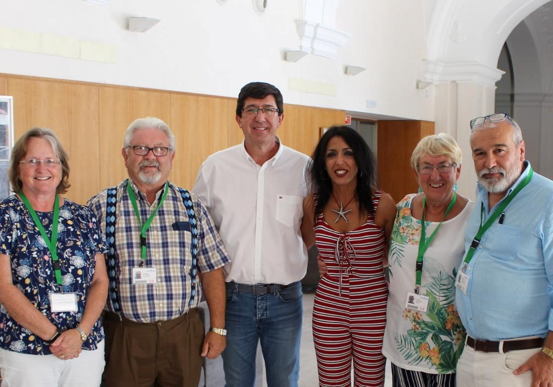 AUAN members with Juan Marin (Vice President Junta de Andalusia) and Mara Bosquet (President Parliament of Andalusia). July 2018.