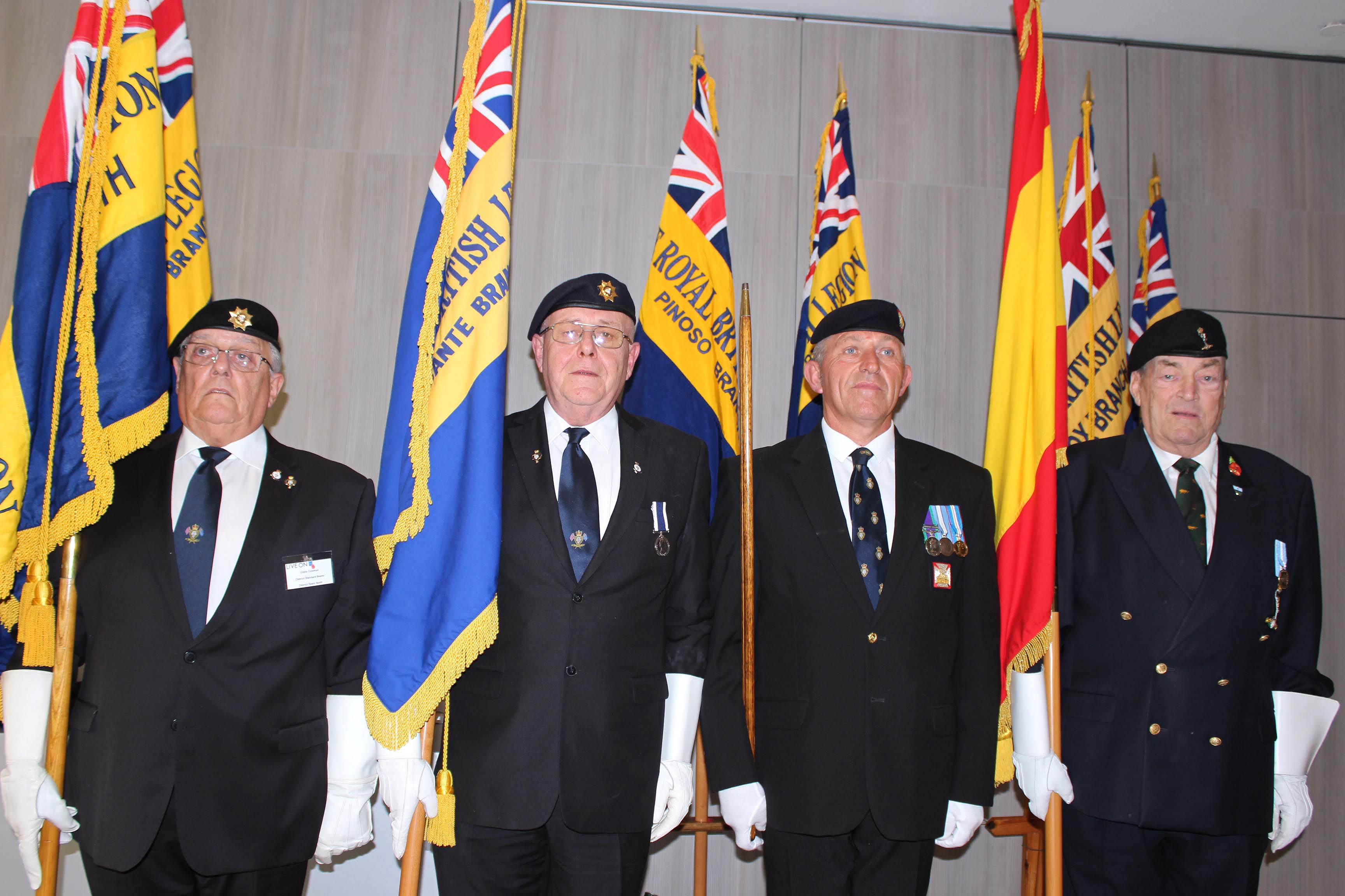 Standard Bearers with Parade Marshall
