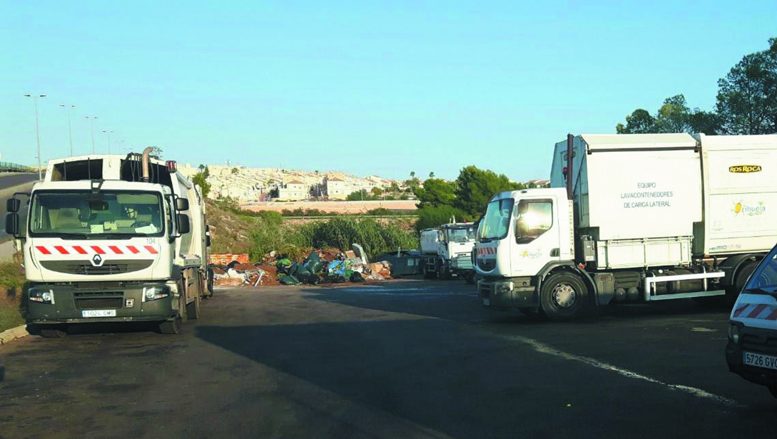 The Orihuela Costa Depot where drivers are constantly driving through pools of urine
