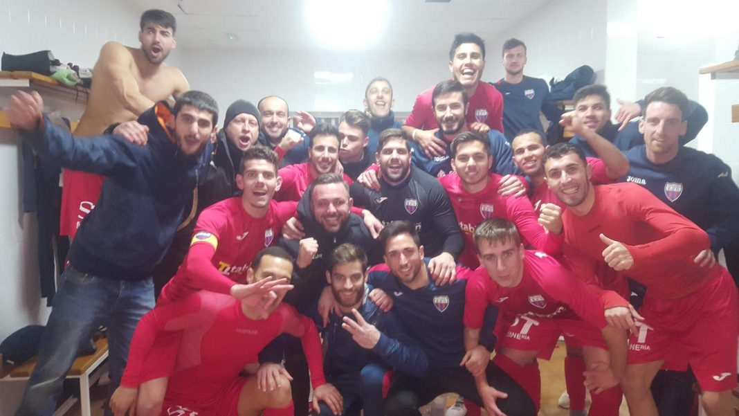 Racing San Miguel celebrate going seven points clear at the top of the table.