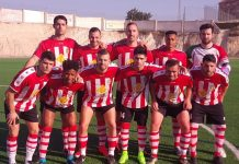 CD Montesinos line up before the game against San Fulgencio. Photo: Terry Harris.
