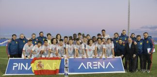 Spain under-15 awarded the Pinatar Arena Trophy