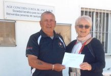 San Miguel Golf Society Visits Age Concern