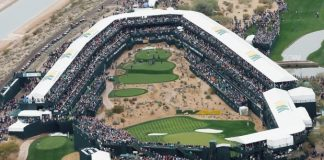 THE NOISIEST HOLE IN GOLF, the 16th at TPC Scottsdale.
