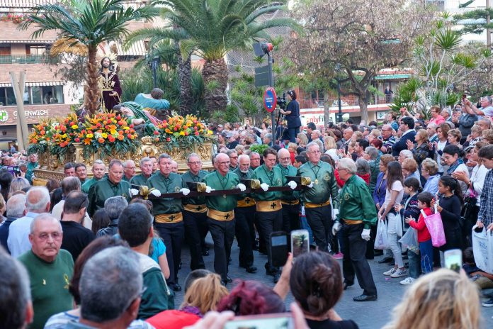 The International Cofradia during Semana Santa in Torrevieja