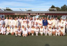 Benitachell Bowls Club v Chatham Civil Service Touring Team.