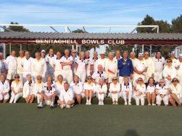 Benitachell Bowls Club v Chatham Civil Service Touring Team.