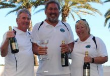 Winners Barry Watson, Sue Green and Trevor Green