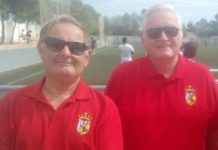 CD Montesinos supporters Derek Brearley (left) and Chris Jenkins.