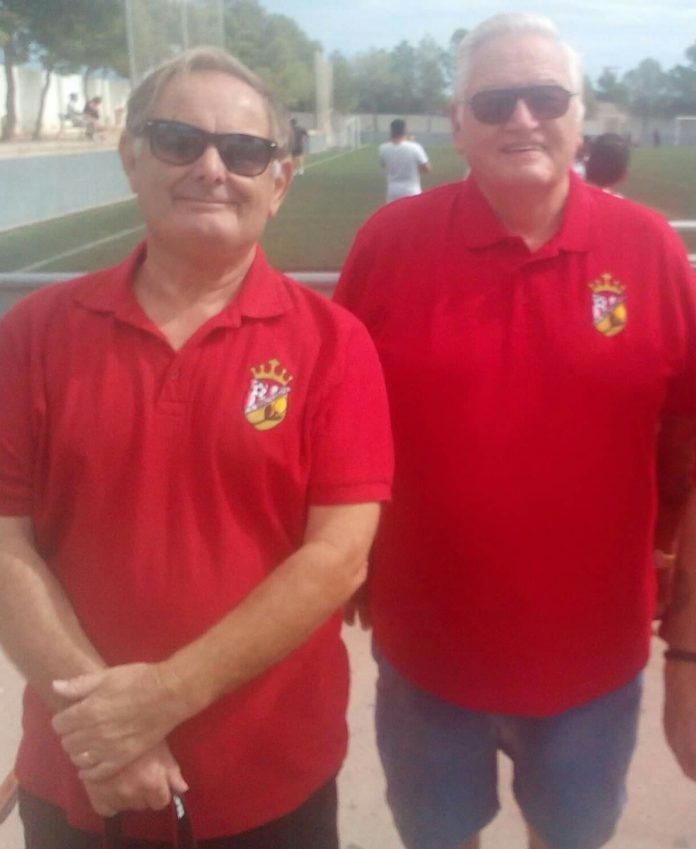 CD Montesinos supporters Derek Brearley (left) and Chris Jenkins.