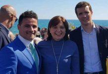 Joel Noche, left, with Isabel Bonig and Pablo Casado, recently.