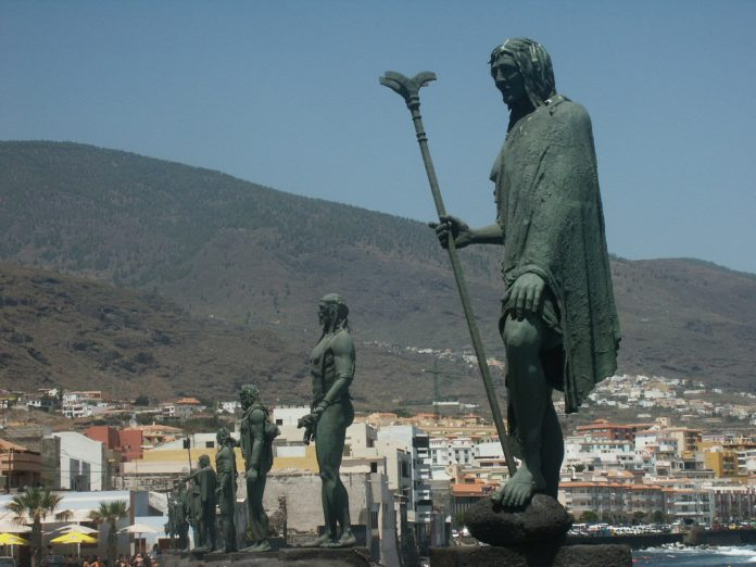 On the seafront of La Candelaria in Santa Cruz de Tenerife we find these statues representing the ancient Guanches Kings of the Canary Island of Tenerife