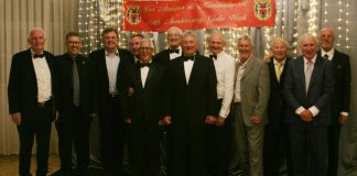 The Football Celebrities with Gary Marshall, Los Amigos President Alan Lyle and event organiser Dave Capper