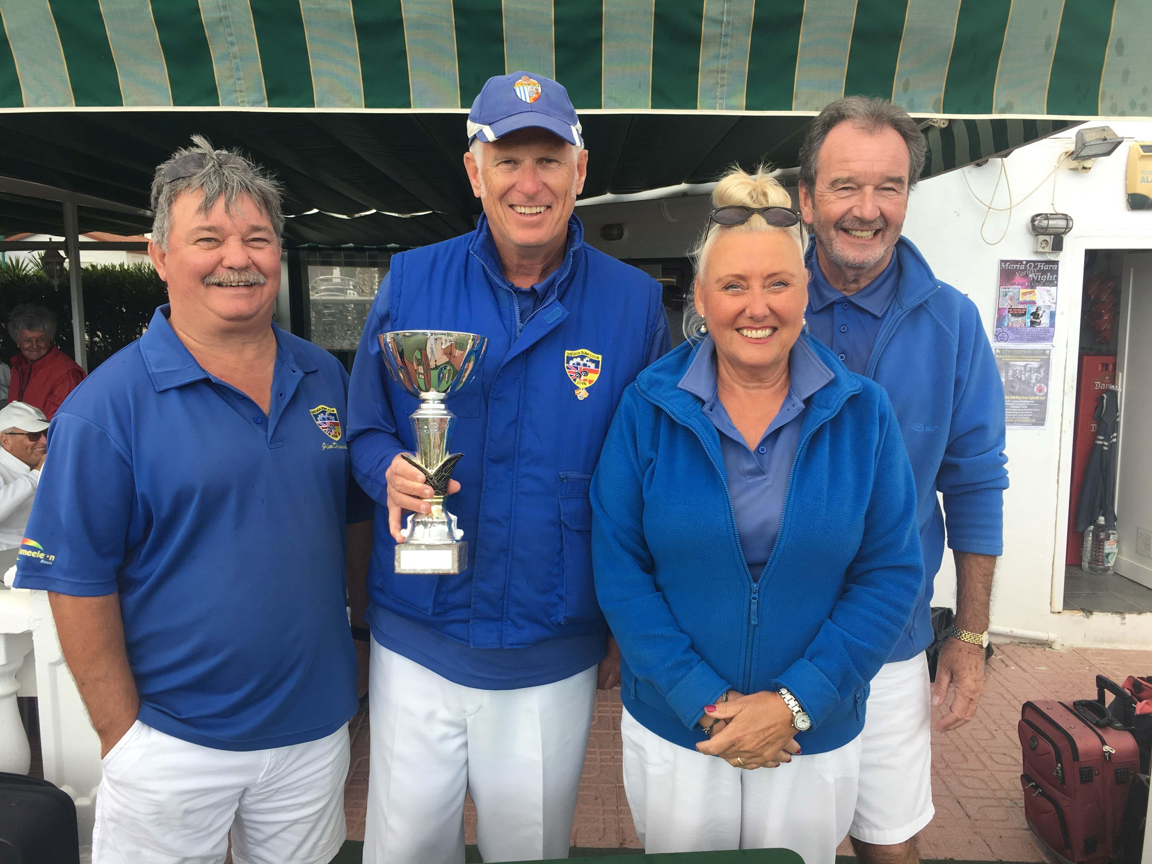 Les McCracken Memorial Trophy best visitors winners - Jim Donnelly, Steve Hibberd, Dee Stephenson, John Stephenson