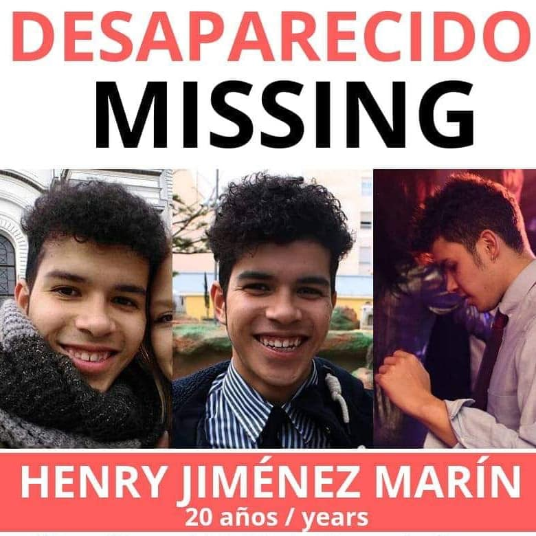 Henry Alejandro Jimenez was just 20 when he went missing on the Orihuela-Costa