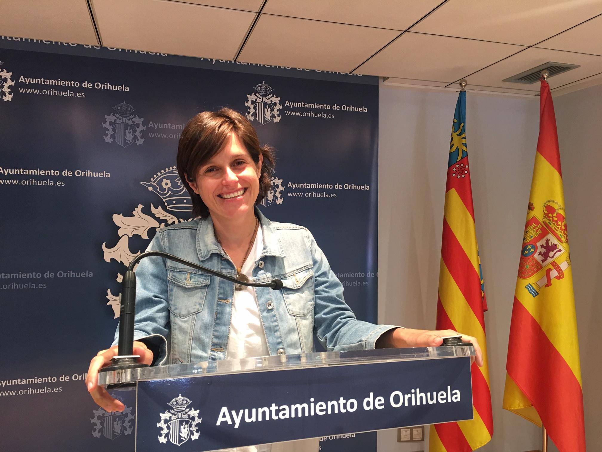 The Orihuela councillor for Beaches, Luisa Boné