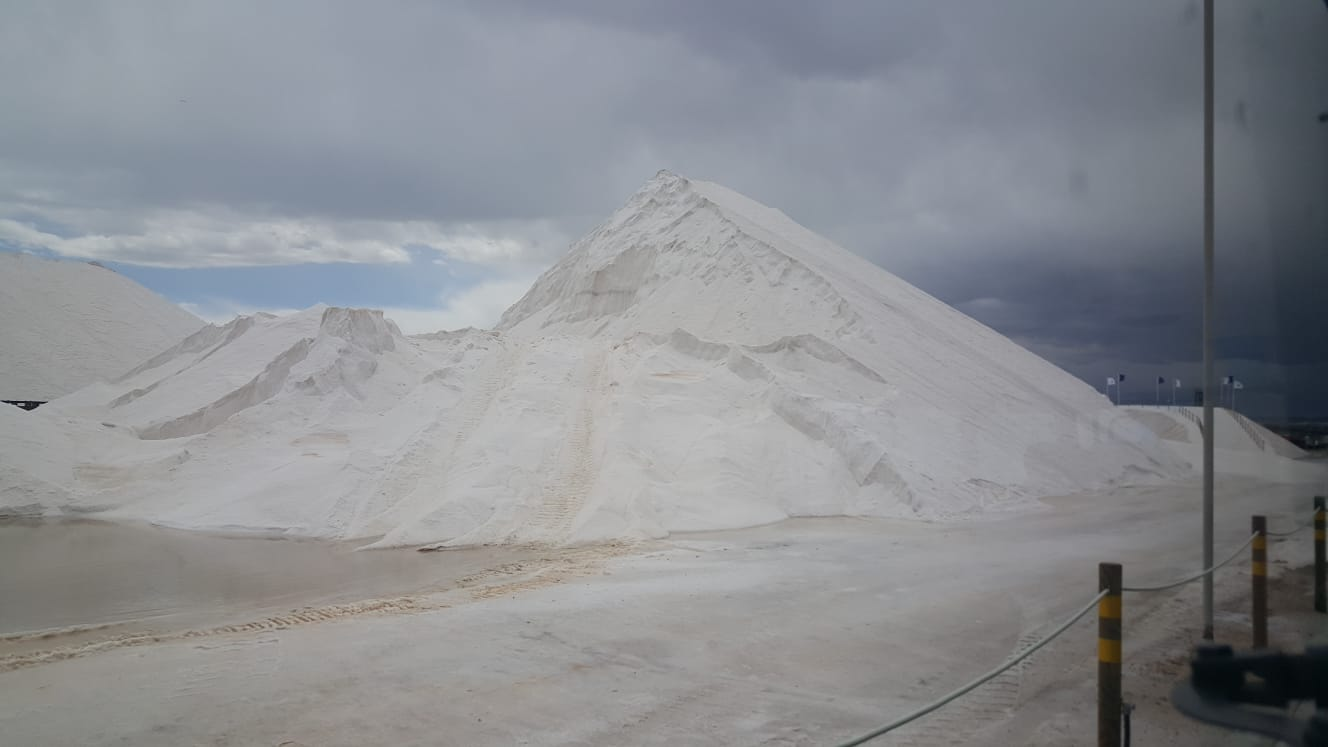 The Torrevieja salt mountains.