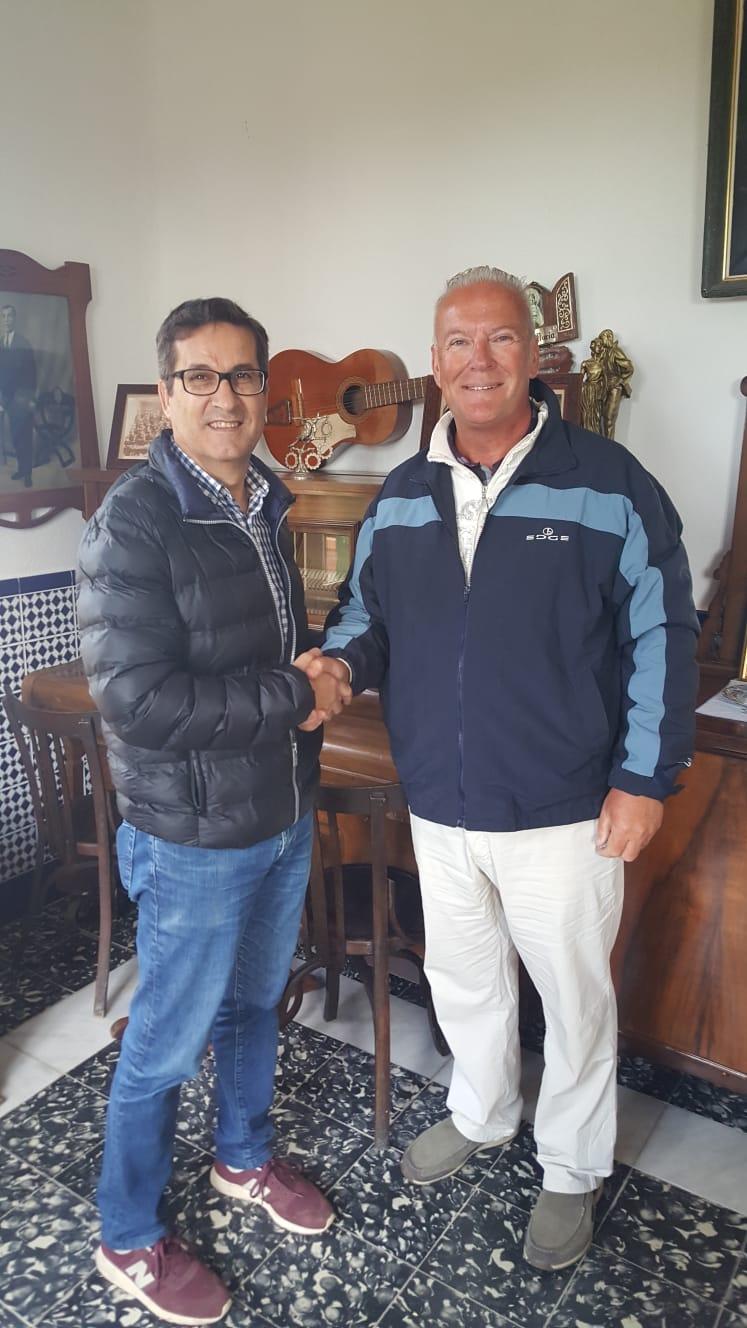Mayor José Butron and Andrew Atkinson in the Rojales Museo De La Huerta.