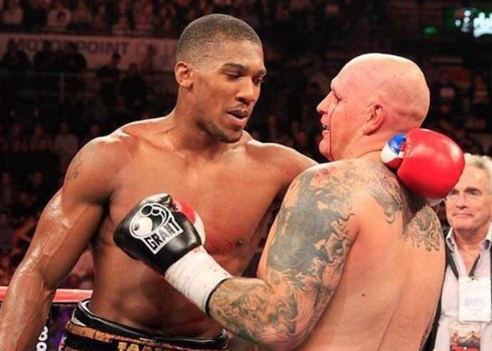 Paul Butlin and Anthony Joshua.
