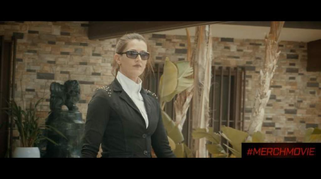 Drugs-Fuelled madman Ricardo stars in Mafia Movie Merch alongside bodyguard wife