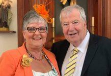 Tony and Linda Parlett 50th wedding celebrations.