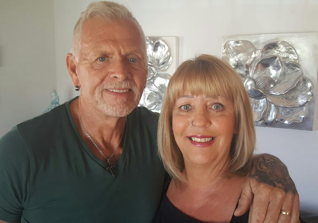 Barry and Elaine Butlin at home in Los Montesinos. Photo: Helen Atkinson.