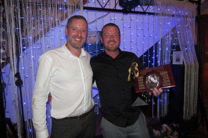 President Rory Lee with Order of Merit Winner Joey McAvoy.