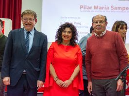 Ximo Puig and Ignacio Ramos with Pilar María Samper