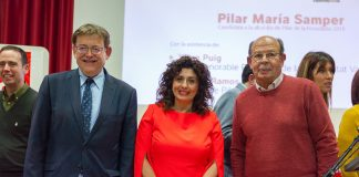 Ximo Puig and Ignacio Ramos with Pilar María Samper